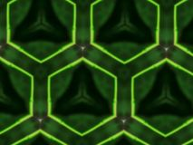 Favo astratto di verde del fondo della mandala Fotografia Stock Libera da Diritti