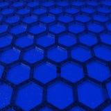 Favo blu Fotografie Stock