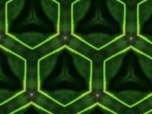 Favo de mel abstrato do verde do fundo da mandala Foto de Stock Royalty Free