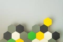 Favo de mel sem emenda colorido Imagem de Stock