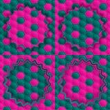 Favo de mel verde cor-de-rosa Fotografia de Stock