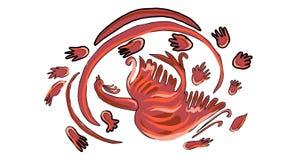 Favola Phoenix dell'uccello del fuoco Fotografie Stock Libere da Diritti