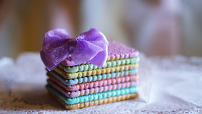 favola sveglia del paese delle meraviglie del biscotto dell'arcobaleno Immagine Stock
