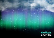 Favoloso del cielo scuro di notte profonda con le nuvole e realistico magici Fotografia Stock Libera da Diritti