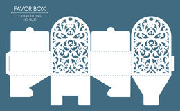 Favor box laser cut Stock Photography