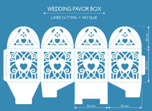Favor box laser cut Stock Images