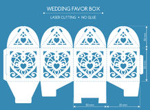 Favor box laser cut Royalty Free Stock Photography
