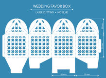 Favor box laser cut Royalty Free Stock Images