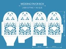 Favor box laser cut Royalty Free Stock Photo