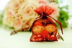 Favor chinês do casamento imagens de stock