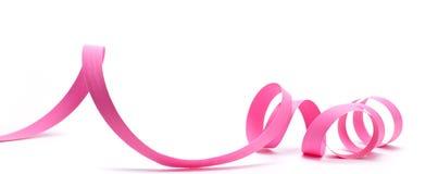 Favor de partido, fita cor-de-rosa Imagens de Stock Royalty Free