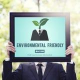 A favor do meio ambiente vai o conceito verde dos recursos naturais Fotos de Stock Royalty Free