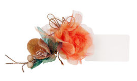 Favor with tulle and satin. Royalty Free Stock Image