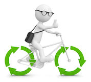 Favorable à l'environnement réutilisez le concept vert de flèche Photos stock