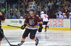 Favorable acción del hockey sobre hielo Fotos de archivo libres de regalías