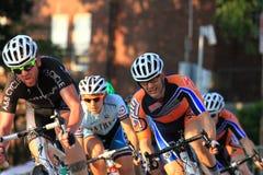 Favorable ciclista en la acción Imagenes de archivo