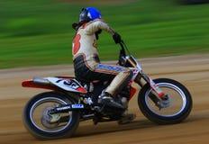 Favorable conductor de motocicleta Fotografía de archivo