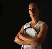 Favorable de tenis joven fotos de archivo libres de regalías
