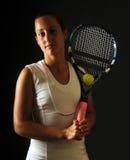 Favorable de tenis joven imagen de archivo libre de regalías