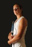Favorable de tenis joven foto de archivo libre de regalías