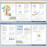Favorable financial conditions. Two sides of business tri fold and flyer. Infographics elements in modern flat concept business st Royalty Free Stock Image