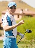 Favorable golfista Annika Sorenstam de LPGA Imagenes de archivo