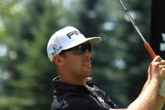 Favorable golfista Hunter Mahan Imágenes de archivo libres de regalías