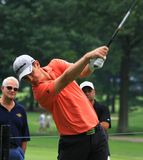 Favorable golfista Justin Rose Fotos de archivo libres de regalías