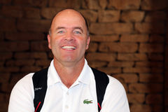Favorable golfista para hombre Thomas Levet November 2015 en Suráfrica Fotografía de archivo