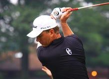 Favorable golfista sueco Robert Karlsson Foto de archivo