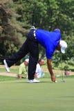 Favorable golfista Tiger Woods foto de archivo libre de regalías
