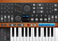 Favorable interfaz del sintetizador de la música Imagenes de archivo