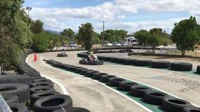 Favorable Kart que compite con en Tahunanui, Nueva Zelanda almacen de metraje de vídeo