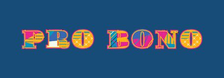 Favorable palabra Art Illustration del concepto de Bono stock de ilustración
