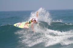 Favorable persona que practica surf Brian Toth Imágenes de archivo libres de regalías