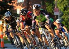 Favorable raza de bicicleta Foto de archivo libre de regalías