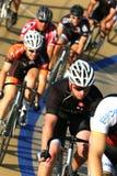 Favorable raza de bicicleta Fotografía de archivo libre de regalías