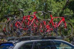 Favorable Team Bikes de ciclo Imágenes de archivo libres de regalías