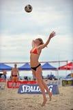 Favorable voleibol de la playa de 2013 mujeres Fotografía de archivo