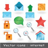 12 favorables iconos para la presentación del web o para los sitios web Foto de archivo libre de regalías