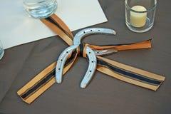 Favore a ferro di cavallo di nozze Fotografie Stock Libere da Diritti