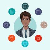 Favoriete hulpmiddelen voor werkende managers en zaken Royalty-vrije Stock Foto's