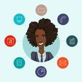 Favoriete hulpmiddelen voor werkende managers en zaken Stock Afbeeldingen