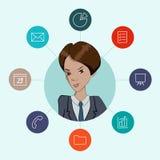 Favoriete hulpmiddelen voor werkende managers en zaken Stock Afbeelding