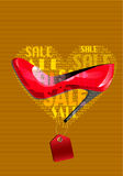 Favoriete rode schoenen Royalty-vrije Stock Afbeelding