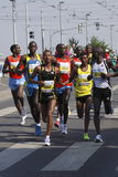 Favoris africains dans le marathon de Prague Photo stock