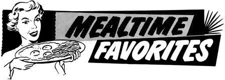 Favoris de Mealtime illustration stock