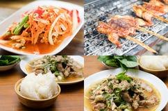 Favorit av den thailändska matmaträtten royaltyfri fotografi