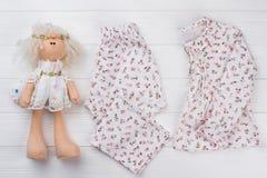 Favorit- pajama för leksak- och barn` s royaltyfria foton