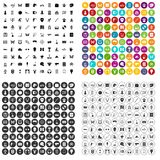 100 favorite activity icons set vector variant. 100 favorite activity icons set vector in 4 variant for any web design isolated on white vector illustration